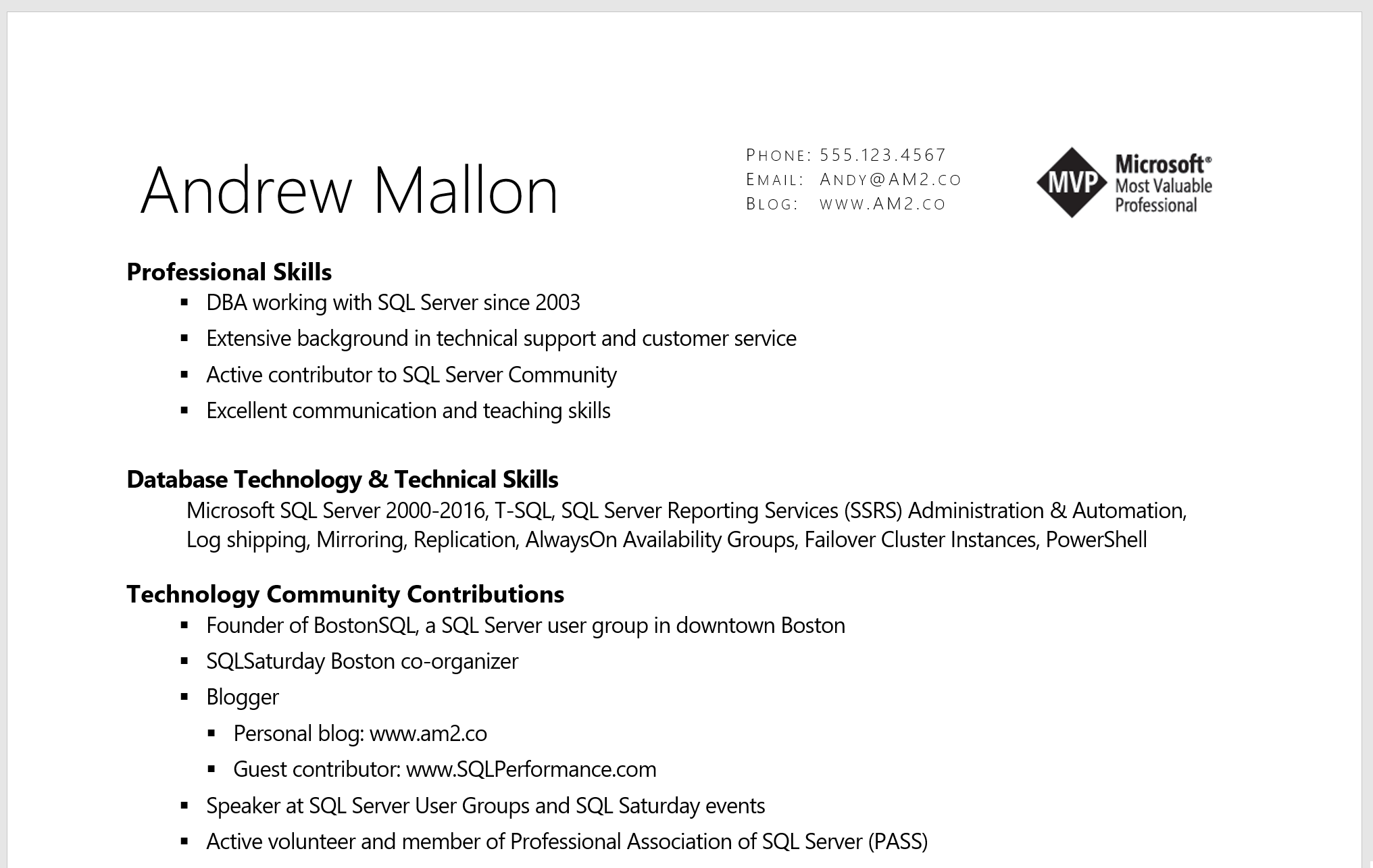 the most important resume tip - andy m mallon